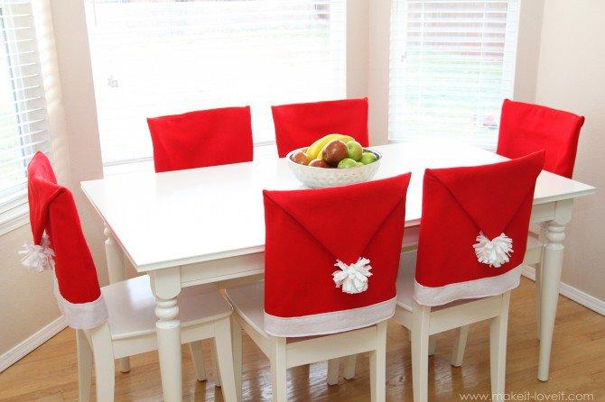 Como hacer forros navideños de sillas