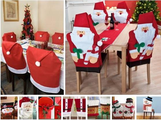 Ideas para hacer forros navideños de sillas