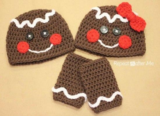Modelos de gorros navideños tejidos en crochet