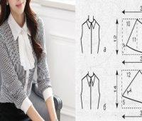 Cuello de camisa con patrones