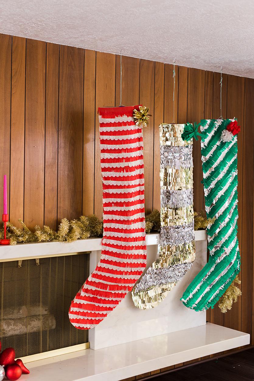 Como hacer medias de navidad con papel