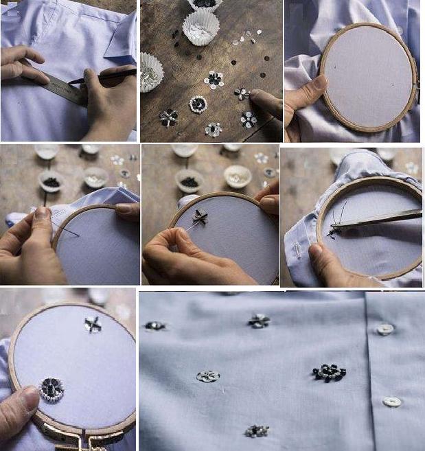 Como renovar camisas con lentejuelas paso a paso
