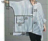 Como hacer Blusa modelo tunica con patrones
