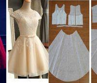 Vestidos corte princesa con patrones