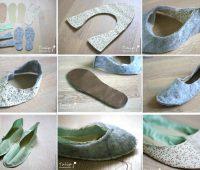 Zapatillas de algodón con moldes