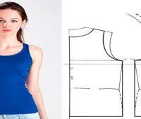 Camisetas sin mangas con patrones super facil