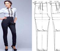 Pantalon cintura alta con moldes