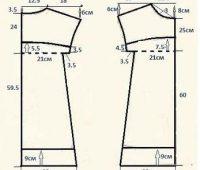 Bluson manga recta con patrones