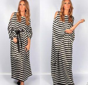Modelo de maxi vestido