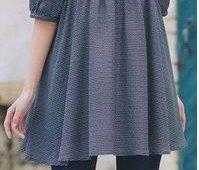 Bluson de pliegues con patrones ¡Ideal para embarazadas!
