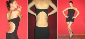 Vestido ajustado con escote en la espalda