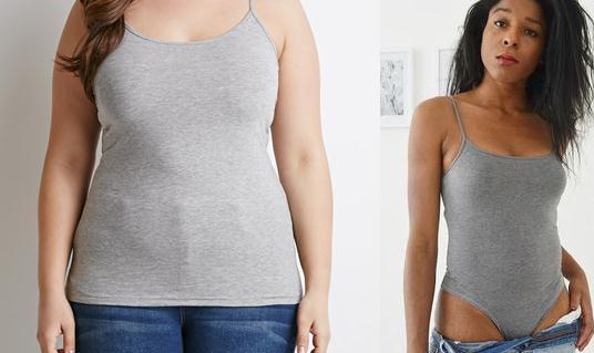 Camiseta ajustada transformada en body