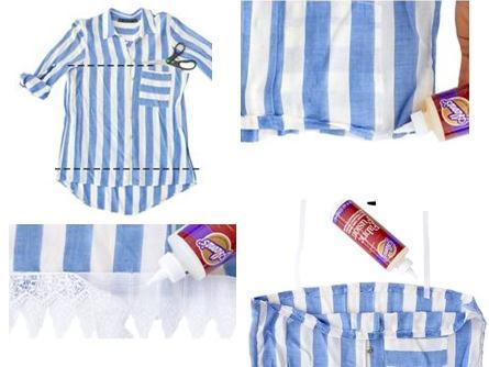 Como hacer un top con una camisa sin costuras