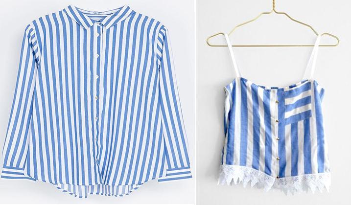 Como hacer un top con una camisa