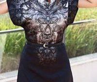 Patrones de vestido mangas rectas ajustado en la cintura