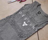 Como transformar camisetas talla grande en vestidos ajustados