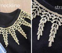 Como personalizar cuellos de camisetas con encaje en 3 simples pasos