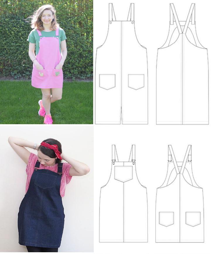 Overol con moldes para dama ¡Dos modelos! - Moda & Manualidades