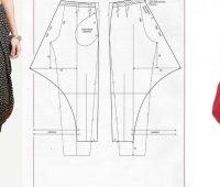 Pantalon bombacho con patrones