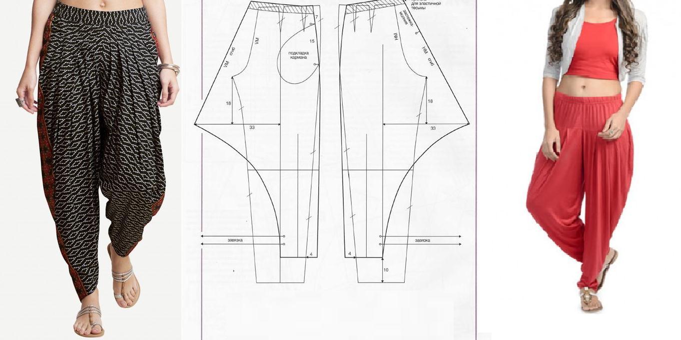 Pantalon bombacho con patrones - Moda & Manualidades Navidad