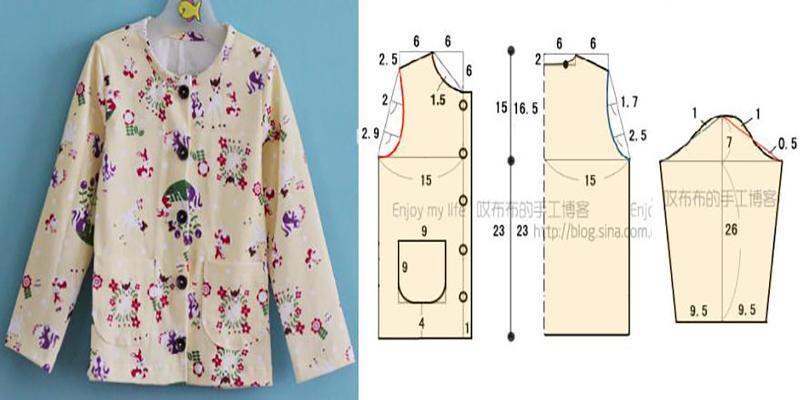 Cardigan pijama para niños con moldes - Moda & Manualidades