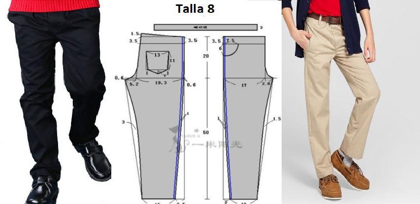 Pantalon de vestir corte clasico para niños con patrones - Moda ...