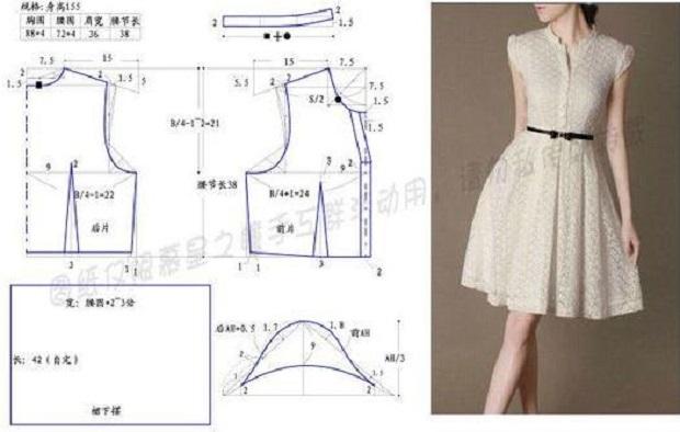 d48df1eb4 Es como lucirás por doquier cada vez que uses este lindo vestido casual  botones al frente con patrones que te traemos para las manualidades en  costura del ...