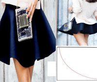 Falda circular de una sola costura en 3 simples pasos ¡Con molde!