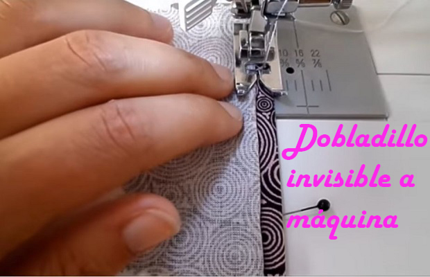 Dobladillo invisible a maquina