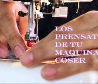 Los prensatelas de la máquina de coser
