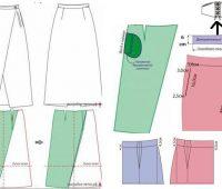 Falda larga asimetrica con bolsillos