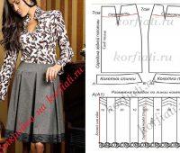 Falda plisada con moldes descritos en detalle ¡Clásica y Glamurosa!