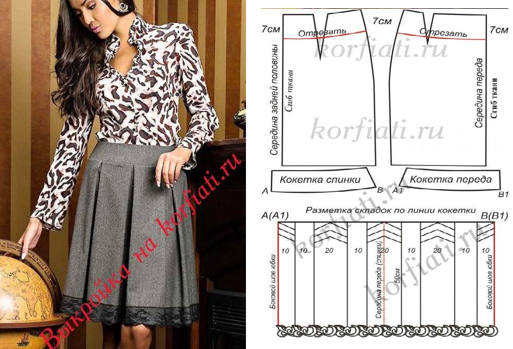 Falda plisada con moldes descritos en detalle ¡Clásica y Glamurosa ...