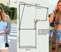 Kimono casual con patrones ¡Sencillo, practico y de encanto!
