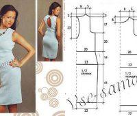 Vestido elegante ajustado escote en espalda con patrones sencillos