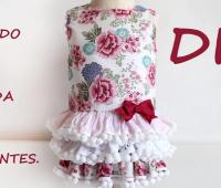 Como hacer un vestido de niña con falda de volantes.