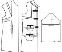 Vestido elegante sencillo con moldes de fácil trazado