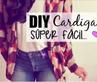 DIY CARDIGAN SUPER FÁCIL VIDEO TUTORIAL
