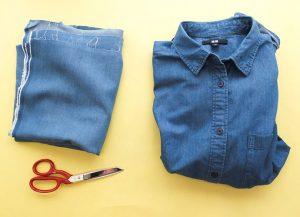 materales-para-transformar-una-camisa-de-jean-masculina