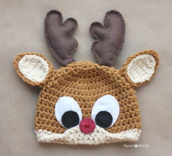 Modelos De Gorros Navideños Tejidos En Crochet Moda Manualidades