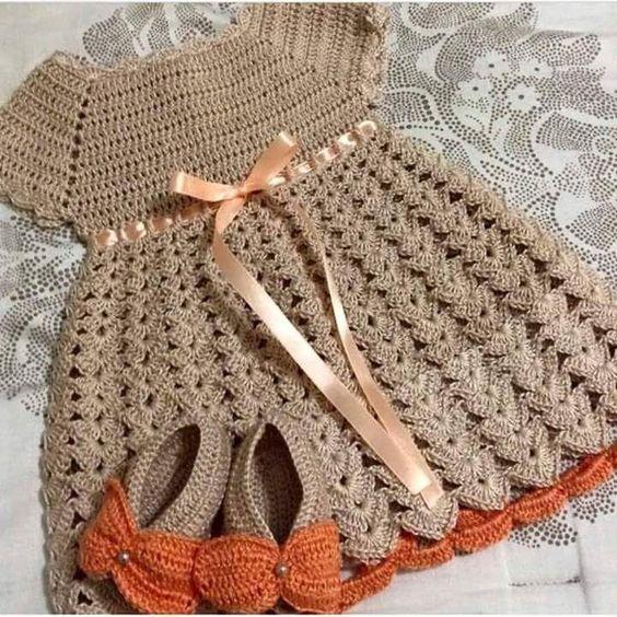 Vestidos A Crochet Para 1 Ano 7 Moda Amp Manualidades Y Cursos