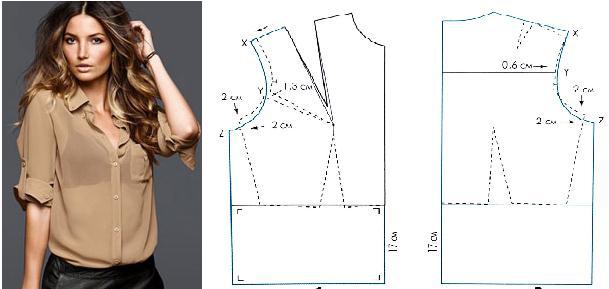 Blusa básica con patrones