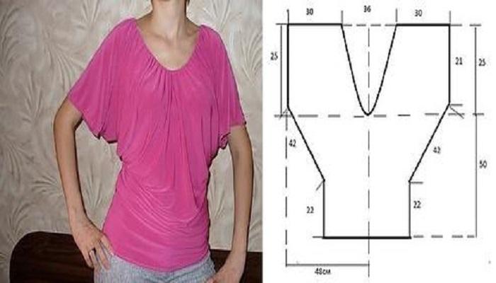 Blusa-cuello-V-mangas-rectas-con-patrones