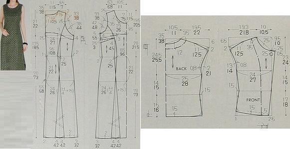 patrones de vestido casual de dos piezas
