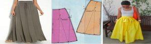Maxi faldas con moldes