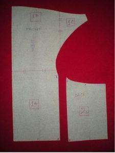 moldes de vestido ajustado con escote en la espalda