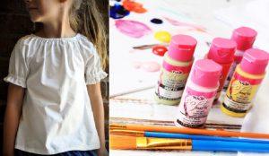 Bricolaje en camisetas para niñas