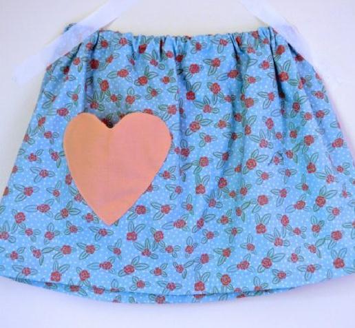 Falda para niñas con patrones en todas las tallas