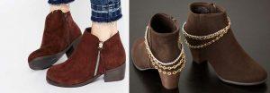 Renueva tus botas personalizandolas con cadenas de bisutería