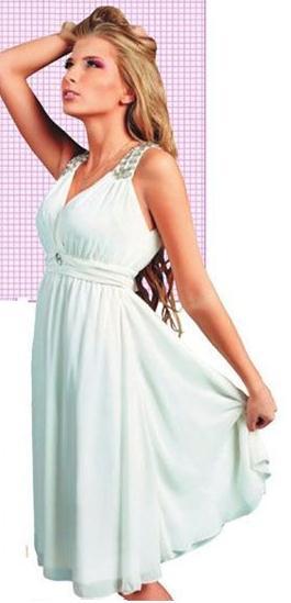 Vestido casual corte cleopatra